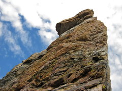 Rock Climbing Photo: Looking up the southeast face from the top of the ...