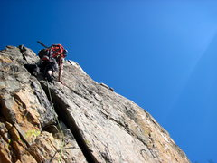 Rock Climbing Photo: This is a 5.8 variation on the first pitch.