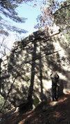Rock Climbing Photo: EB at the base.