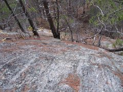 Rock Climbing Photo: 'Scorched' top of photo white rock area and right ...