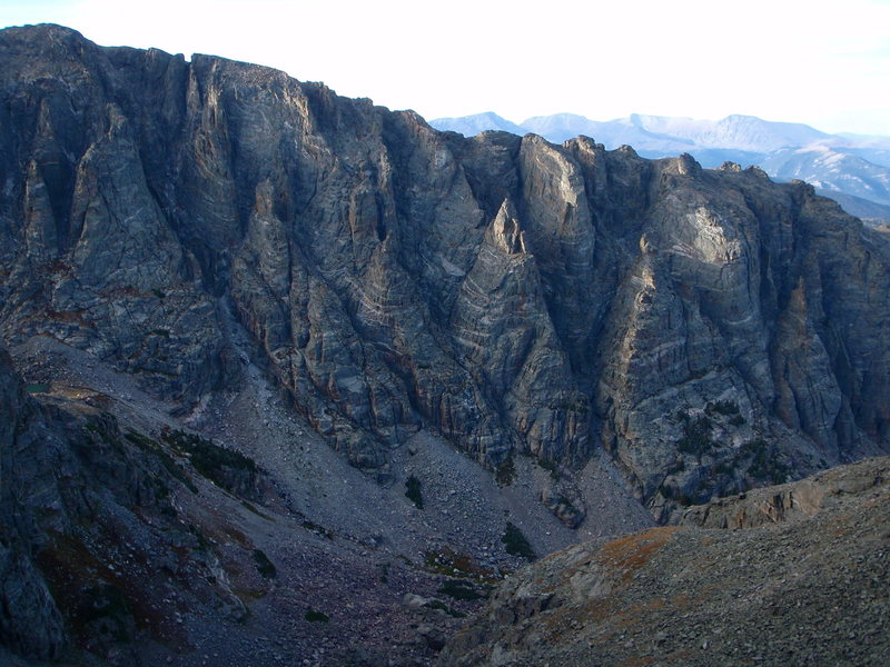 The convoluted southern flanks of Otis Peak.
