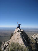 Rock Climbing Photo: On the knife edge ridge just west of the actual su...