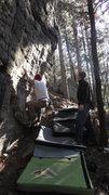 Rock Climbing Photo: Traverse!!!