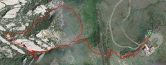 Rock Climbing Photo: Our GPS track. We started from NCAR (follow track ...
