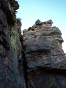 Rock Climbing Photo: Climbing to the top.... Lot of dried lichen on the...