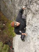 Rock Climbing Photo: Mike clipping from a mono on Diminished Capacity