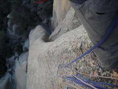 Rock Climbing Photo: Looking down from the top of pitch 2