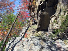 Rock Climbing Photo: Leading the Ramp on a beautiful fall day.  Photo b...