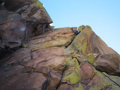 Rock Climbing Photo: Seth pauses and contemplates the bulging crux on P...
