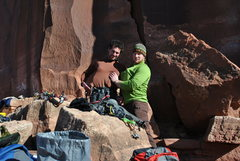 "Rock Climbing Photo: Aaron and Ben warming their shoes... ""not tha..."