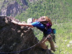 Rock Climbing Photo:  enjoying the exposure on p4