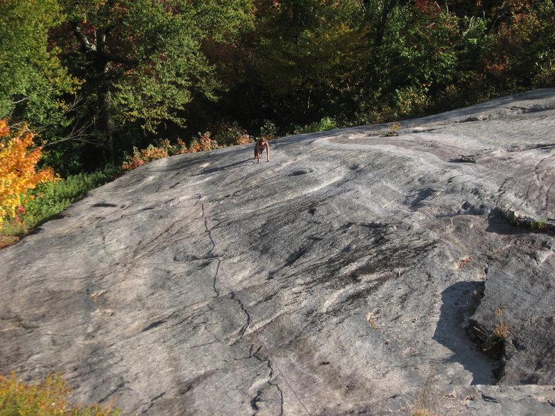 Rock Climbing Photo: Looking down on Trolls