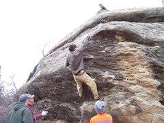 Rock Climbing Photo: Dexter sending the Oreo ultra mega four star class...