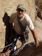 Rock Climbing Photo: Mike at Bucksnort Slabs - Oct 2010