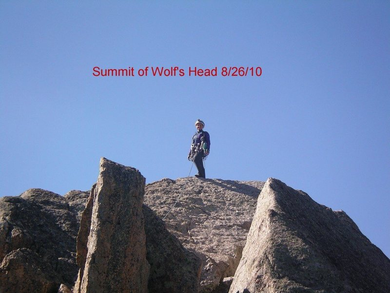 Rock Climbing Photo: Wolf's Head Summit
