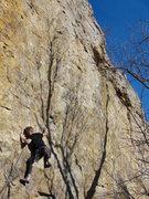 Rock Climbing Photo: brandon near the third bolt of rock pigs, november...