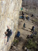 Rock Climbing Photo: brandon about a third the way up rock pigs, novemb...
