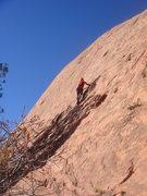 Rock Climbing Photo: Randy starting up Aphrodite.