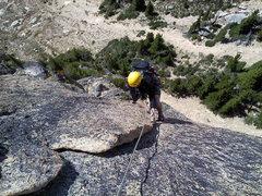 Rock Climbing Photo: Seth at the crux