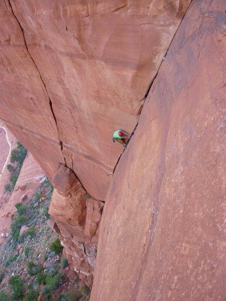 Rock Climbing Photo: Tyler following P2