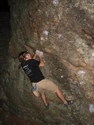 Rock Climbing Photo: Kyle Davis eying the first move