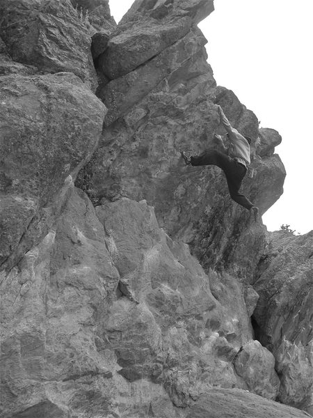 Mike B on the West Overhang.