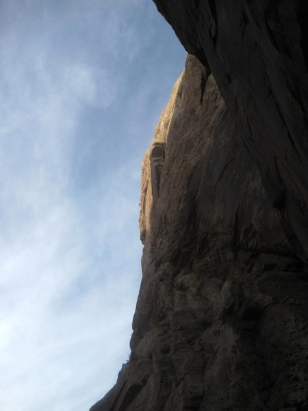 Rock Climbing Photo: A climber can be seen on the skyline rapping about...