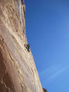 Rock Climbing Photo: Higher on P1.