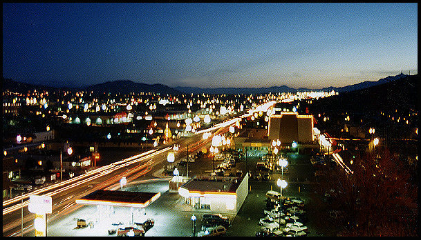 Carson City at night.<br> Photo by Blitzo.