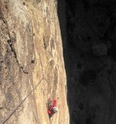 Rock Climbing Photo: Paul doing his best on the first pitch ! Where's t...