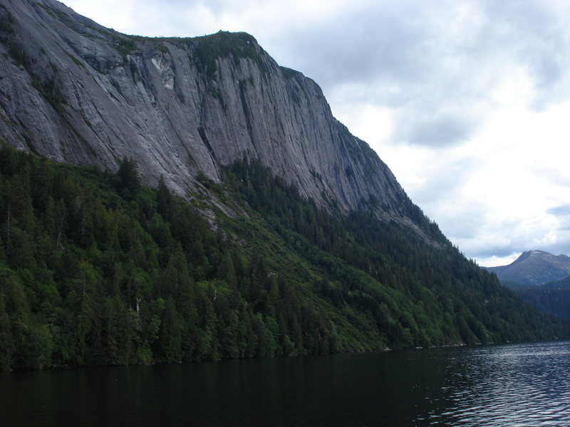 """just one of a million """"big walls"""" in the Misty Fjords"""