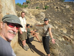 Rock Climbing Photo: Boulder below the Island Wall. Me, Nathan, Albert ...