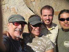 Rock Climbing Photo: Me (Bill), Agina, Nathan and Albert.