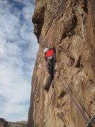 Rock Climbing Photo: Lance starting P3 . Second Ascent November pic.