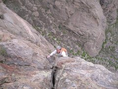 Rock Climbing Photo: Aaron coming up some later pitch on the cruise. He...