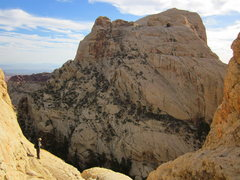 Rock Climbing Photo: Bridge Mountain from the north.  The route is just...