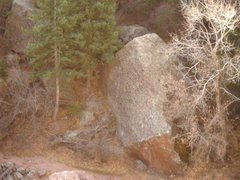 Rock Climbing Photo: Trailhedral Rock, Hydrahedral climbs north-facing,...