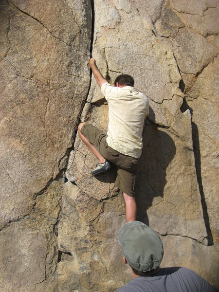 Rock Climbing Photo: Nathan on Island Crack.