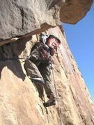 Rock Climbing Photo: Starting P4 ,crack leads into an open groove.