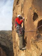Rock Climbing Photo: On the second ascent Lance starting the final pitc...