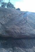 Rock Climbing Photo: Rod TR'ing Sweat.