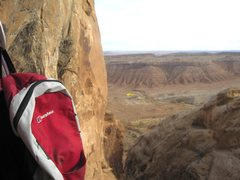 Rock Climbing Photo: View East from the belay of the final pitch,note y...