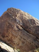 Rock Climbing Photo: A) Innominate 5.12a. B)Start of Wandering Poet 5.1...