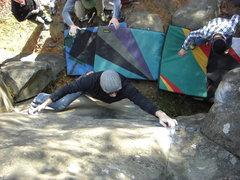 Rock Climbing Photo: The Gentleman running a lap.