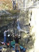 Rock Climbing Photo: Fuzzy on the match.