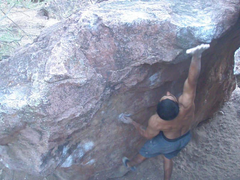 Rock Climbing Photo: F in A dyno Silverbell boulders