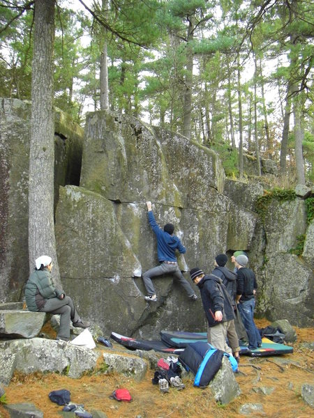 Rock Climbing Photo: Dobbe with the short beta.