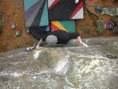 Rock Climbing Photo: The Gentleman setting up.