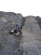 Rock Climbing Photo: On my way up to the top of Minor Groove (5.9+) at ...