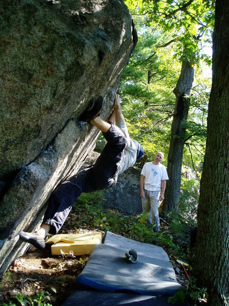 Rock Climbing Photo: Above the guillotine with Pete and Dean.